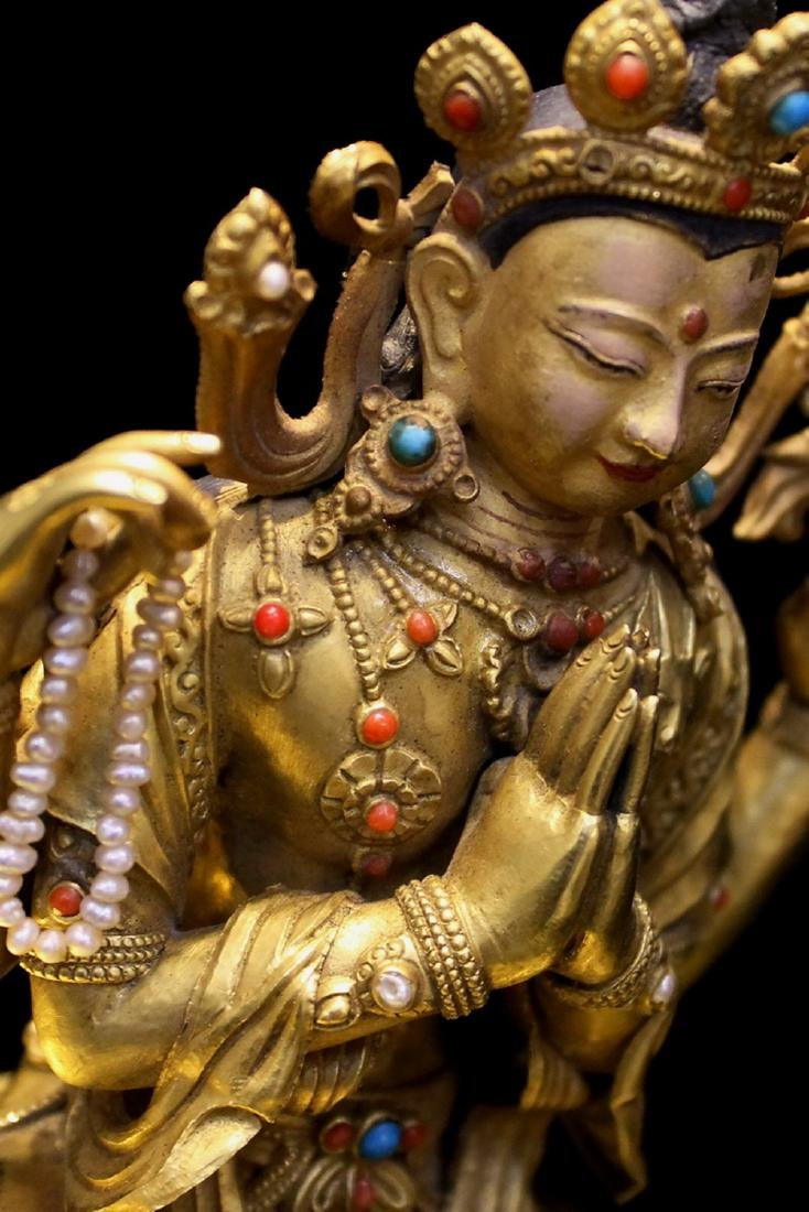 PURE GOLD QUAN YIN WITH FOUR ARMS - 5
