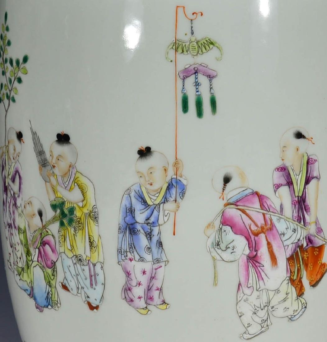 CHINESE 19 TH C FAMILLE ROSE VASE - 6