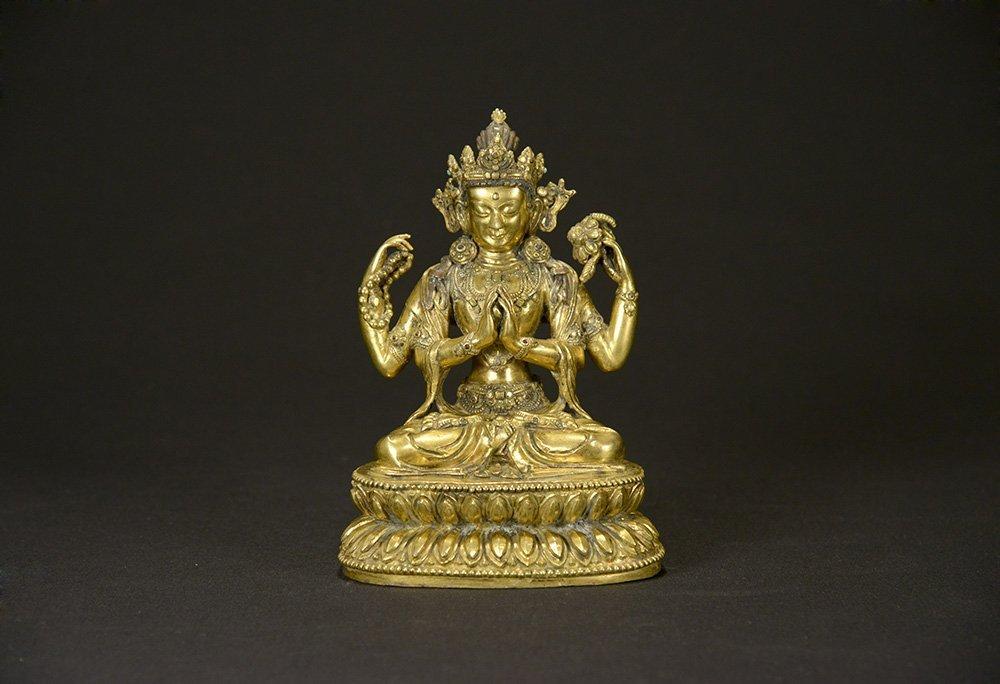 A Gilt-Bronze Buddha, Yongle Mark and Period