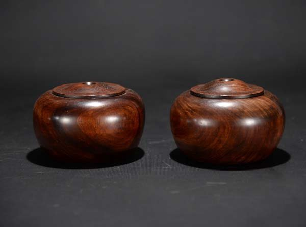 A Pair of Redwood Chess Jar