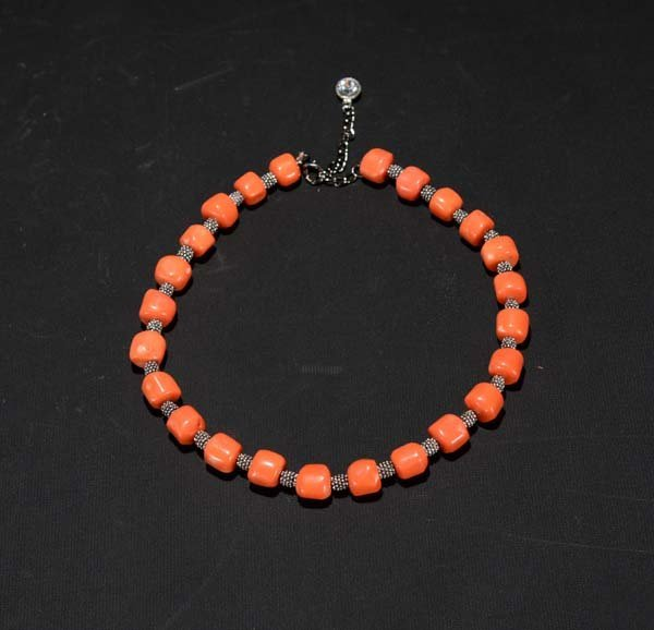 A Beaded Coral Necklace