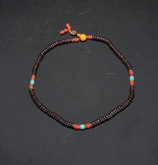 A Zitan Beaded Necklace