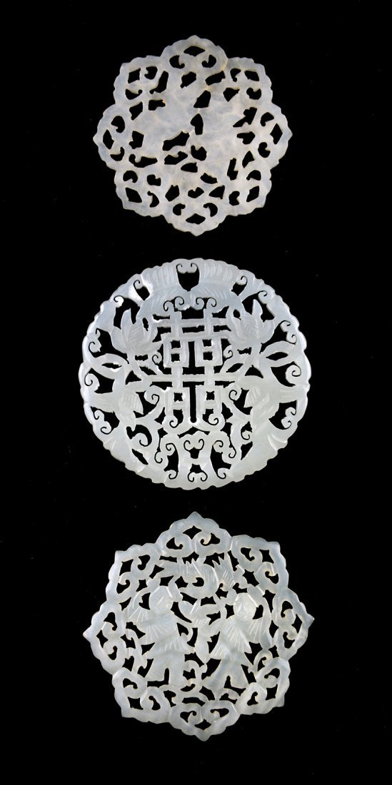 A Jade Pendant with shuangxi Pattern