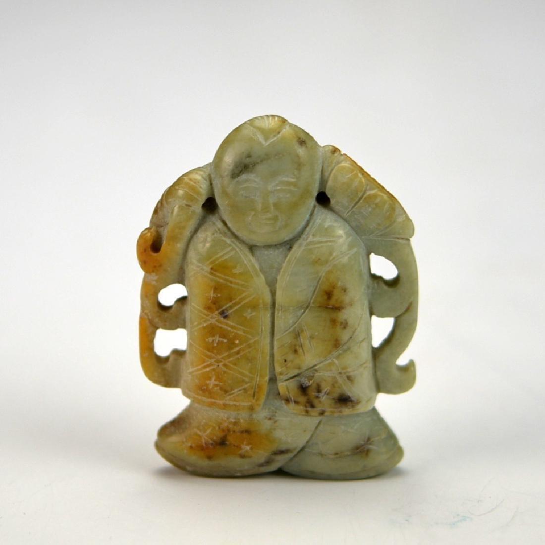 Chinese Mottled Jade Carved