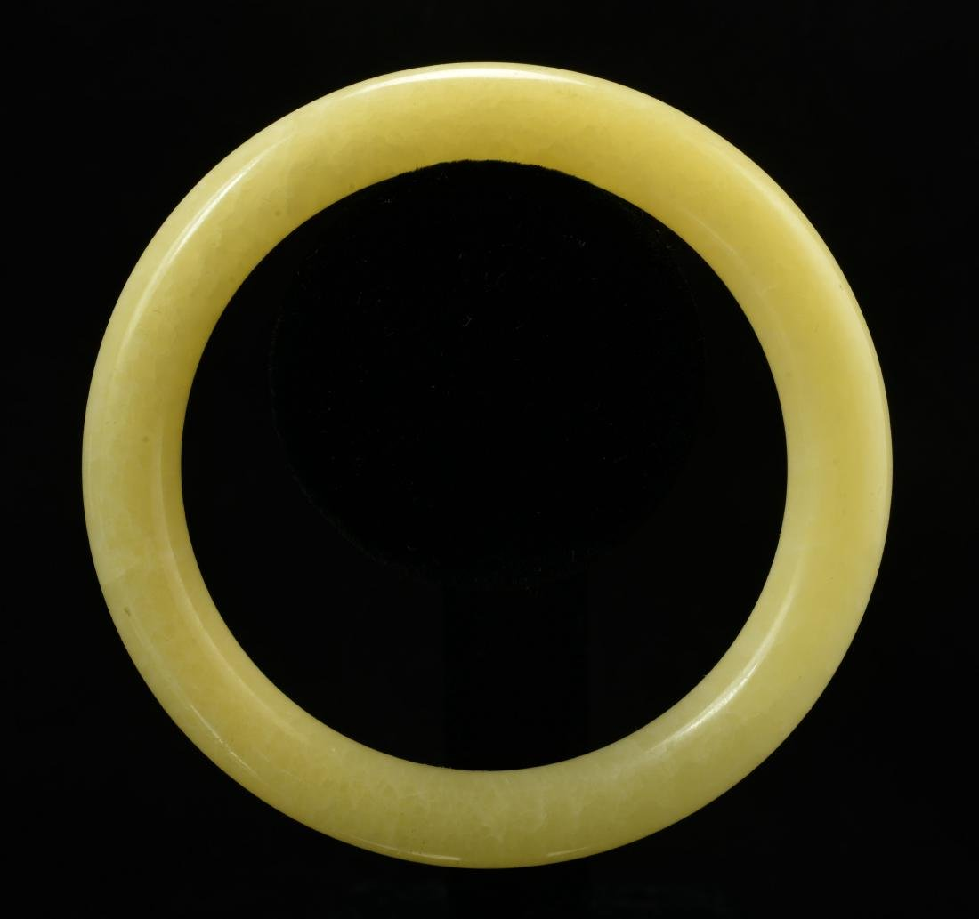 Chinese Yellow Color Jade Bangle