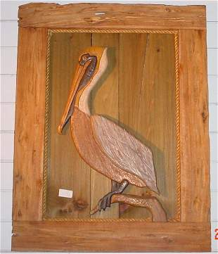 Hand crafted Pelican Wall Hanging