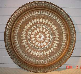 Copper Tray with Silver Inlays