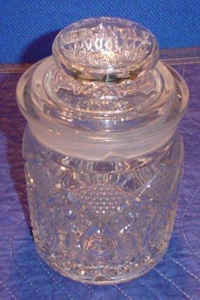 203: Glass Cigar Humidor Jar