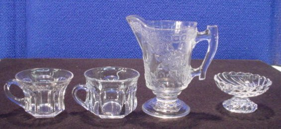 217: 4 Pieces of Misc. Glass