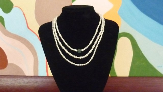 Three String Freshwater Pearl & Bead Necklace set