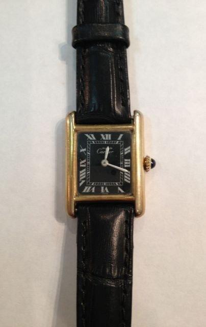 Must de Cartier Tank Argent 925 Ladies Watch