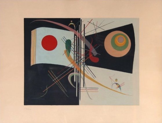 """WASSILY KANDINSKY, """"TWO, ETC."""", LITHOGRAPH"""