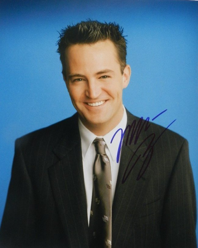 Matthew Perry Autographed Picture