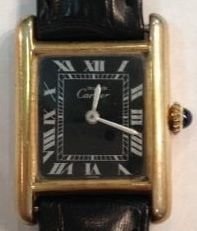 Must de Cartier Tank Argent 925 Ladies Watch