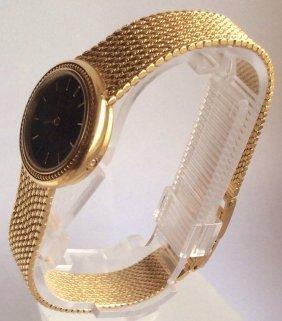Omega 18K Solid Gold Ladies Bracelet Watch - 2
