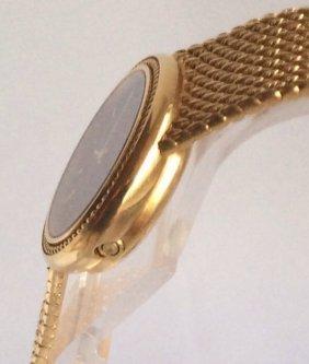 Omega 18K Solid Gold Ladies Bracelet Watch - 3