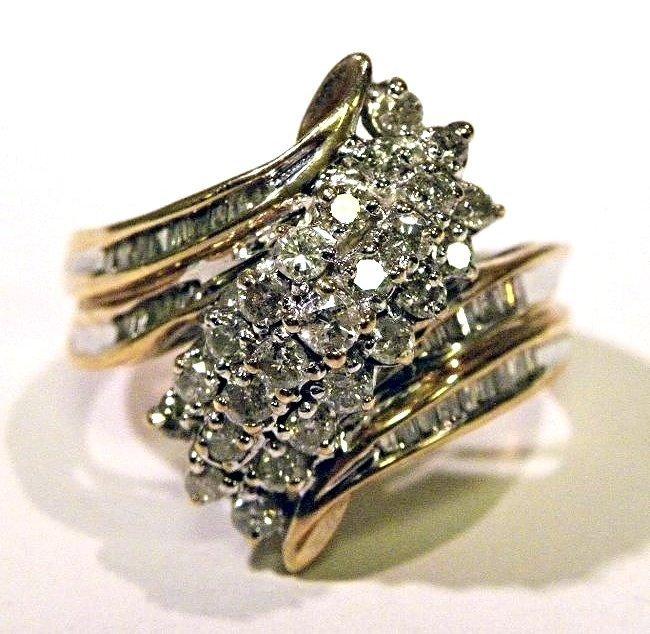 1.00ctw Diamond Waterfall Ring