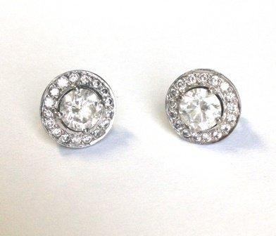 1.06ctw Diamond stud earrings