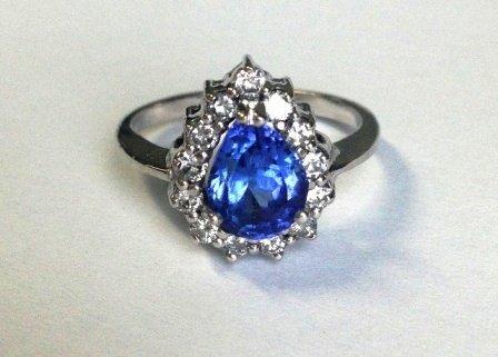 2.061ct Tanzanite and Diamond  Ring