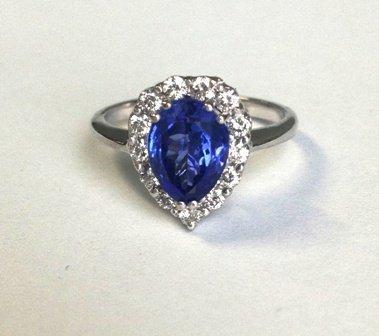 2.02ct Tanzanite and Diamond  Ring