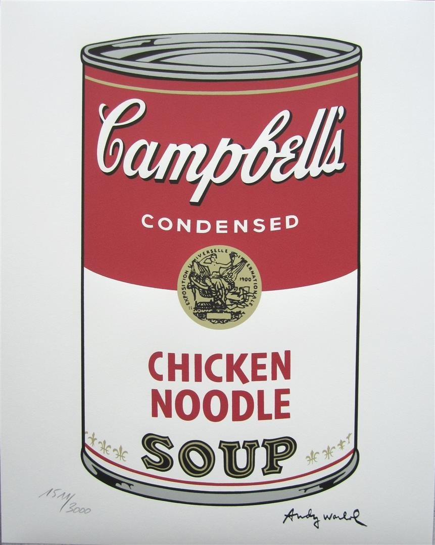 Andy WARHOL Campbell's Soup Chicken Noodle 1511/3000