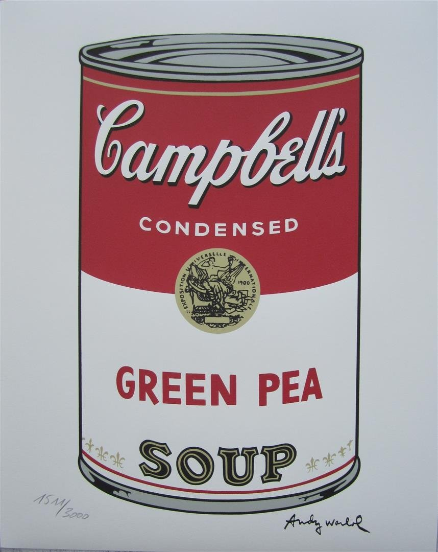 Andy WARHOL Campbell\'s Soup Green Pea 1511/3000