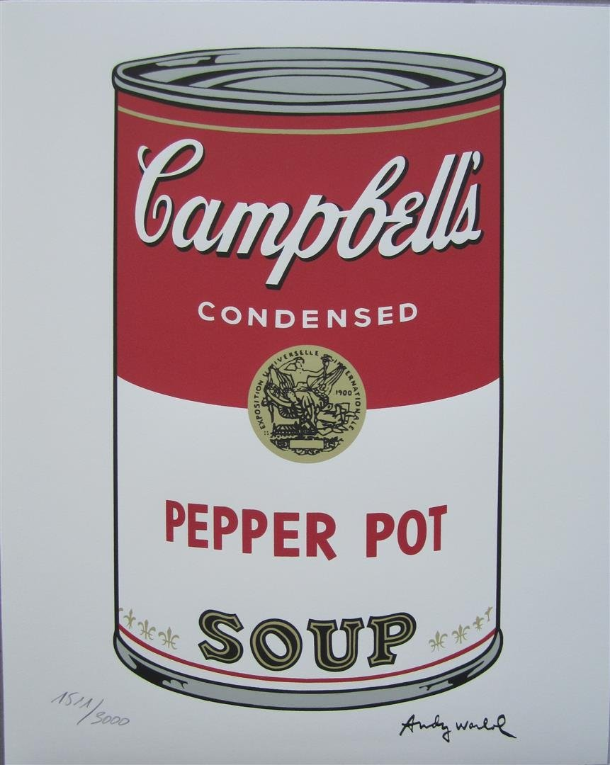 Andy WARHOL Campbell\'s Soup Pepper Pot 1511/3000