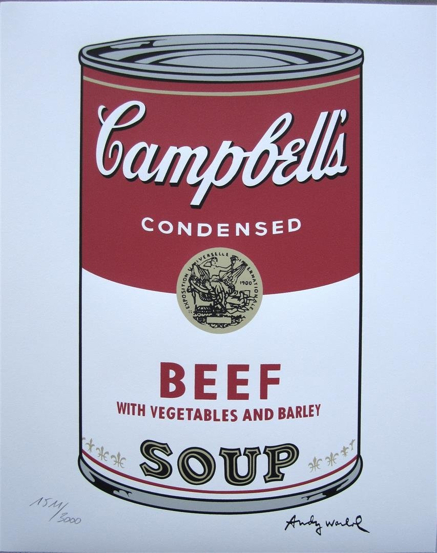 Andy WARHOL Campbell's Soup Beef 1511/3000