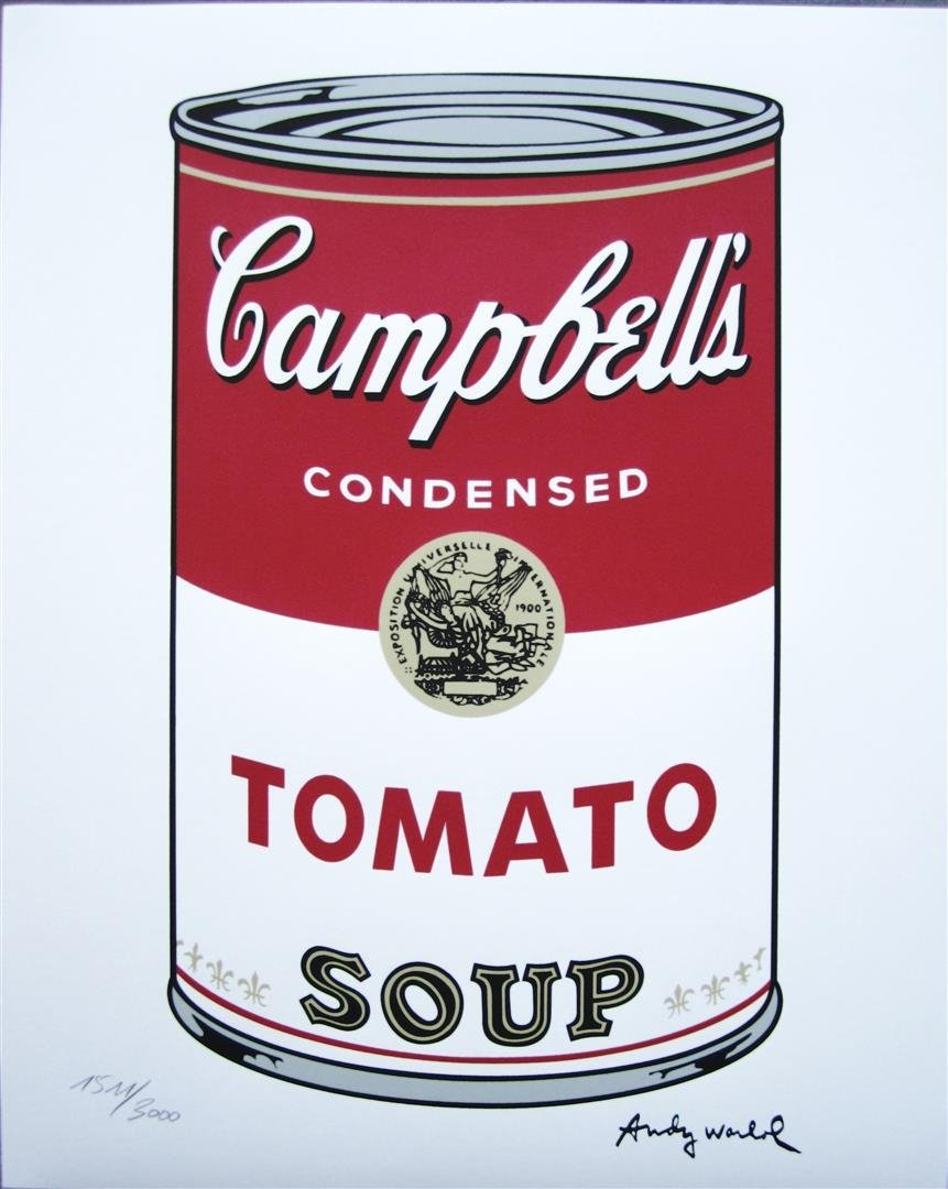 Andy WARHOL Campbell's Soup TOMATO 1511/3000