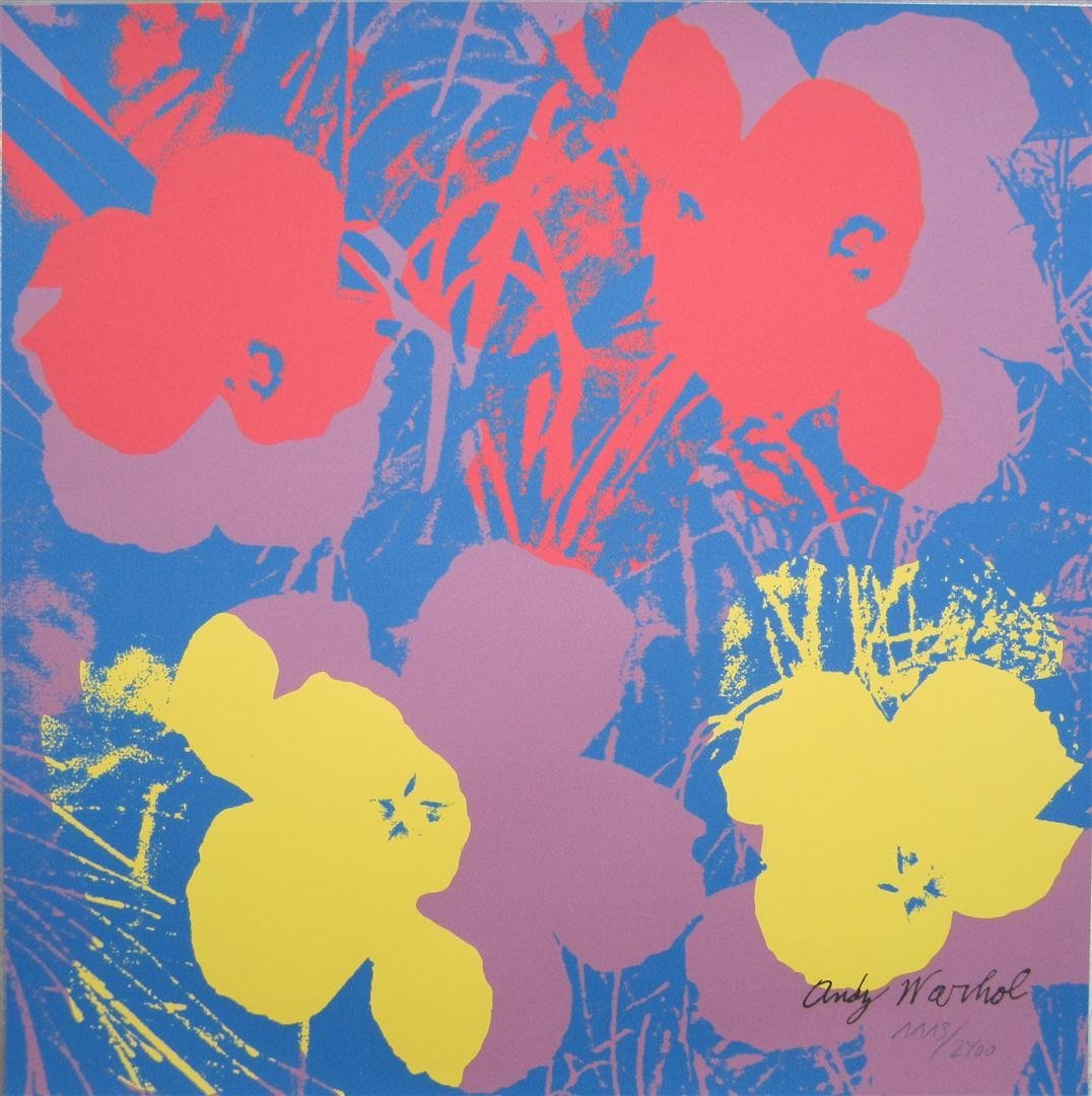 Andy Warhol lithograph Flowers signed 1113/2400, II.71