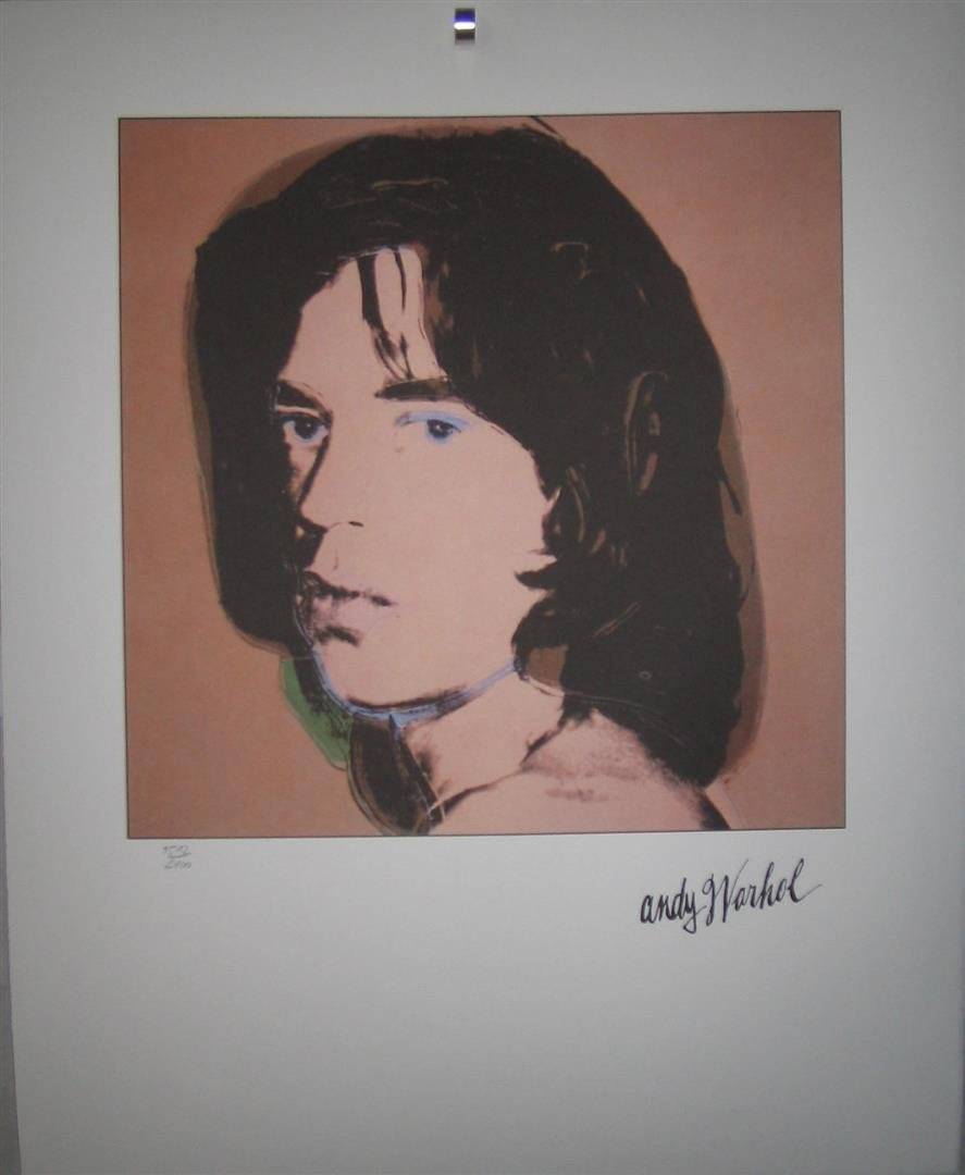 Andy WARHOL lithograph Mick Jagger 1512/2400 signed