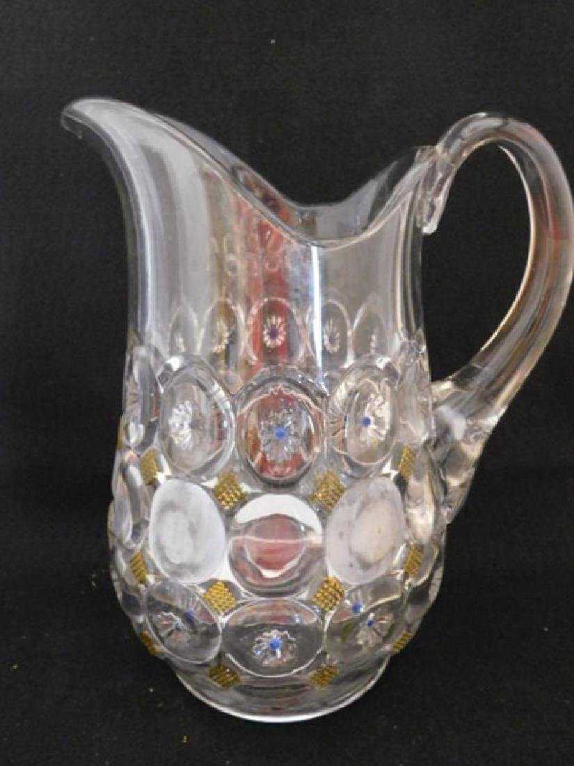 PITCHER VICTORIAN 1800'S EAPG ART GLASS