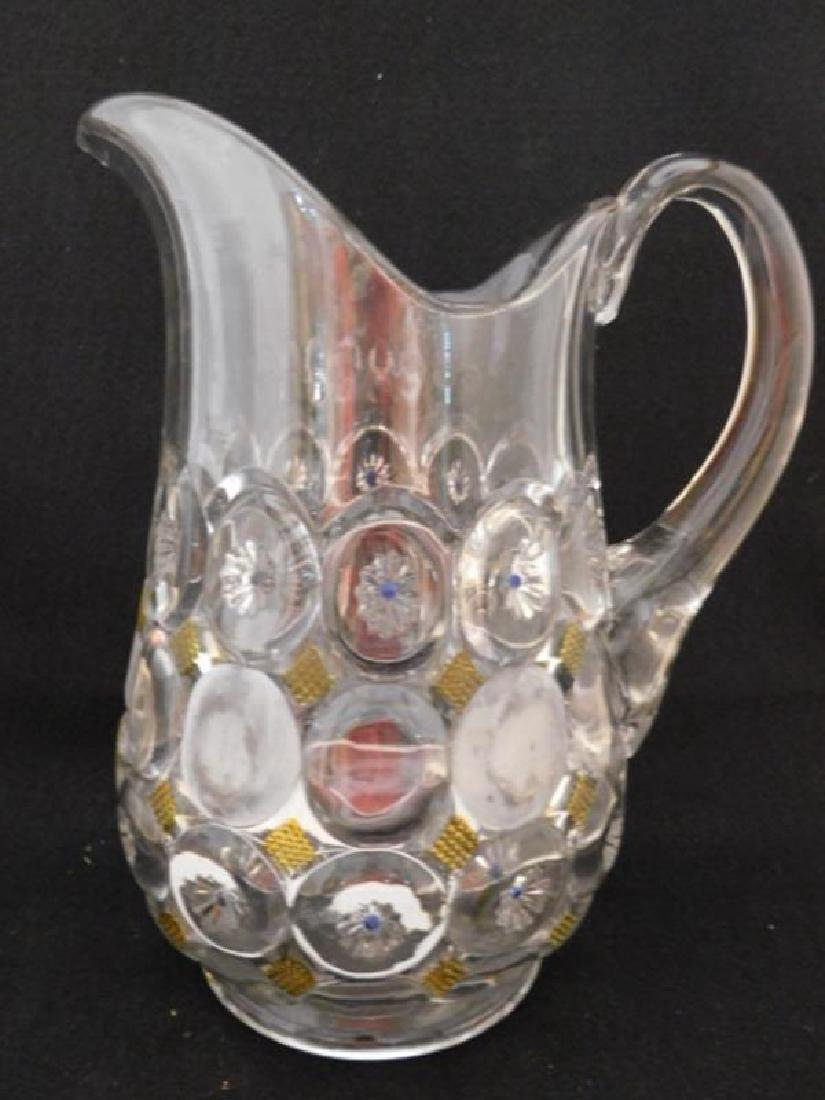 PITCHER VICTORIAN 1800'S EAPG ART GLASS - 2