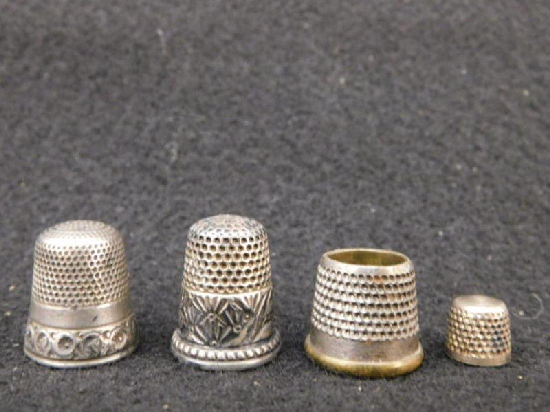 THIMBLES SEWING COLLECTIBLE VICTORIAN ERA ANTIQUE