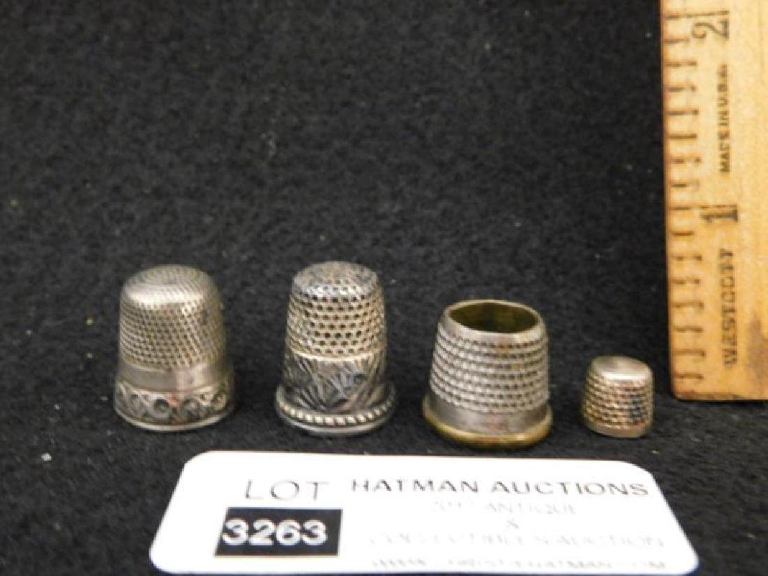 THIMBLES SEWING COLLECTIBLE VICTORIAN ERA ANTIQUE - 2