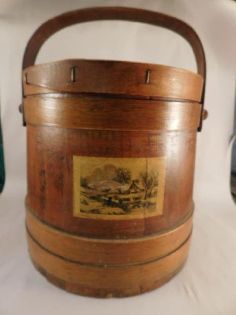 SEWING WOODEN FIRKIN COLLECTIBLE