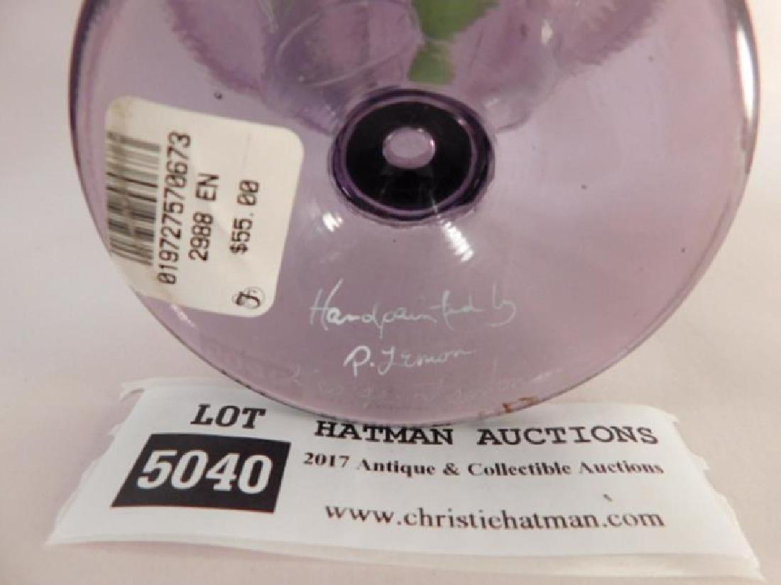 FENTON ART GLASS USA HANDPAINTED - 3