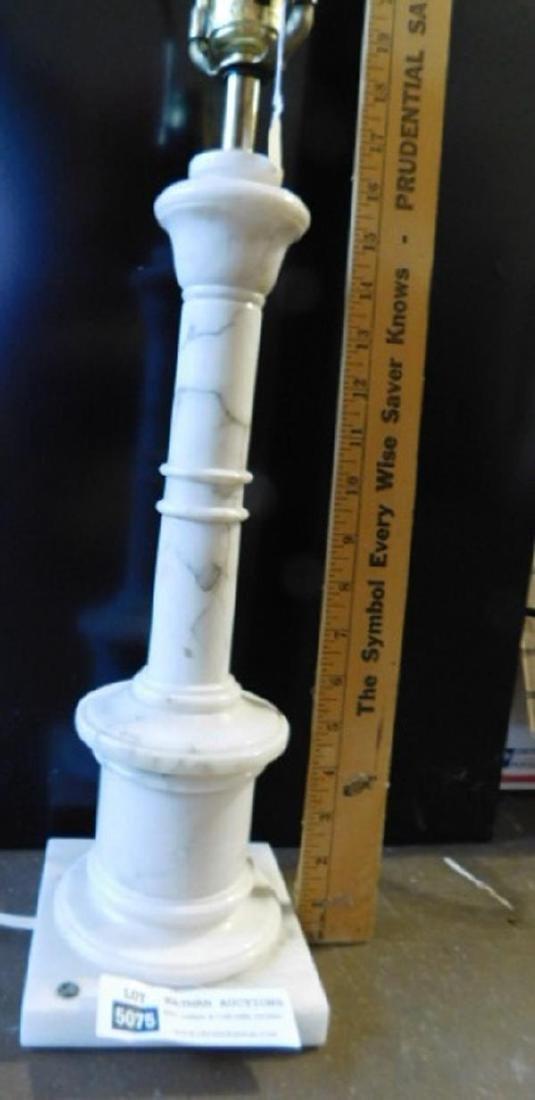 ITALIAN MARBLE LAMP VINTAGE - 4