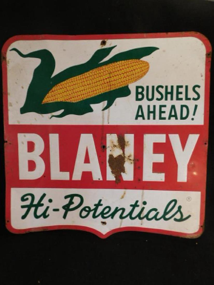 BLANEY HI-POTENTIALS CORN METAL SIGN ADVERTISING 20