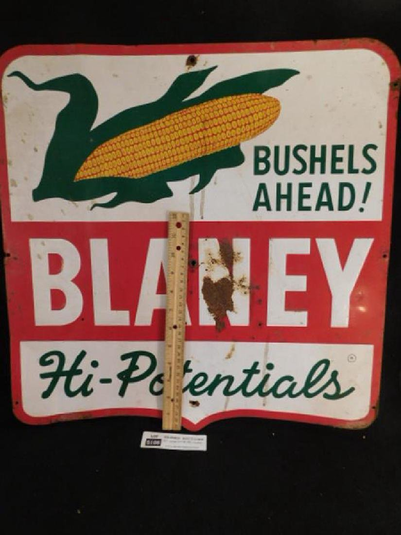 BLANEY HI-POTENTIALS CORN METAL SIGN ADVERTISING 20 - 2