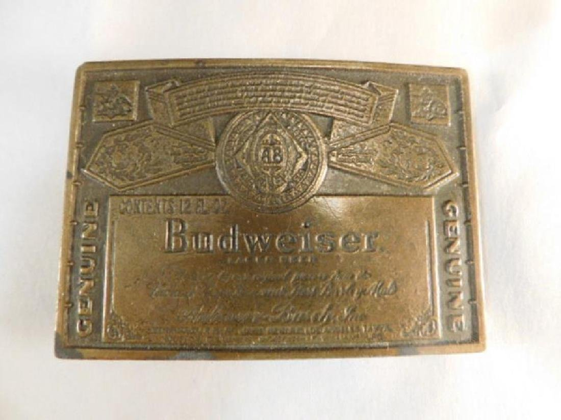 BUDWEISER BELT BUCKLE BRASS