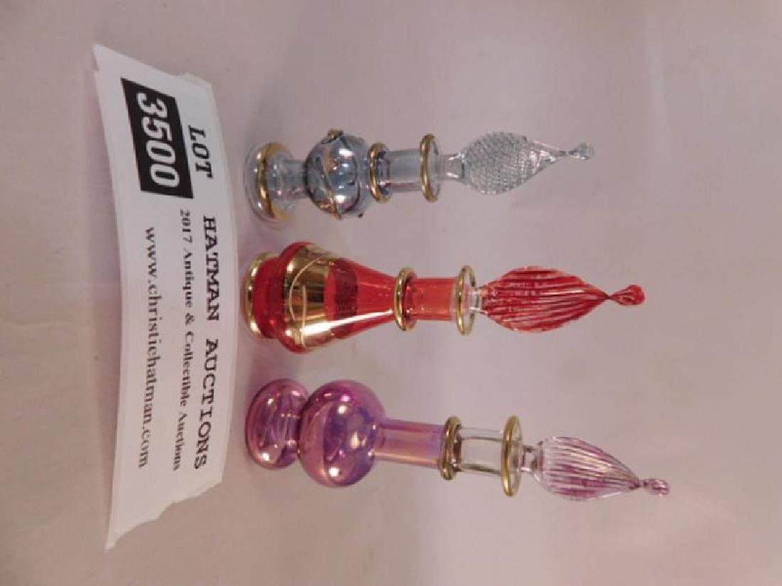HAND BLOWN GLASS PERFUME BOTTLES - 3