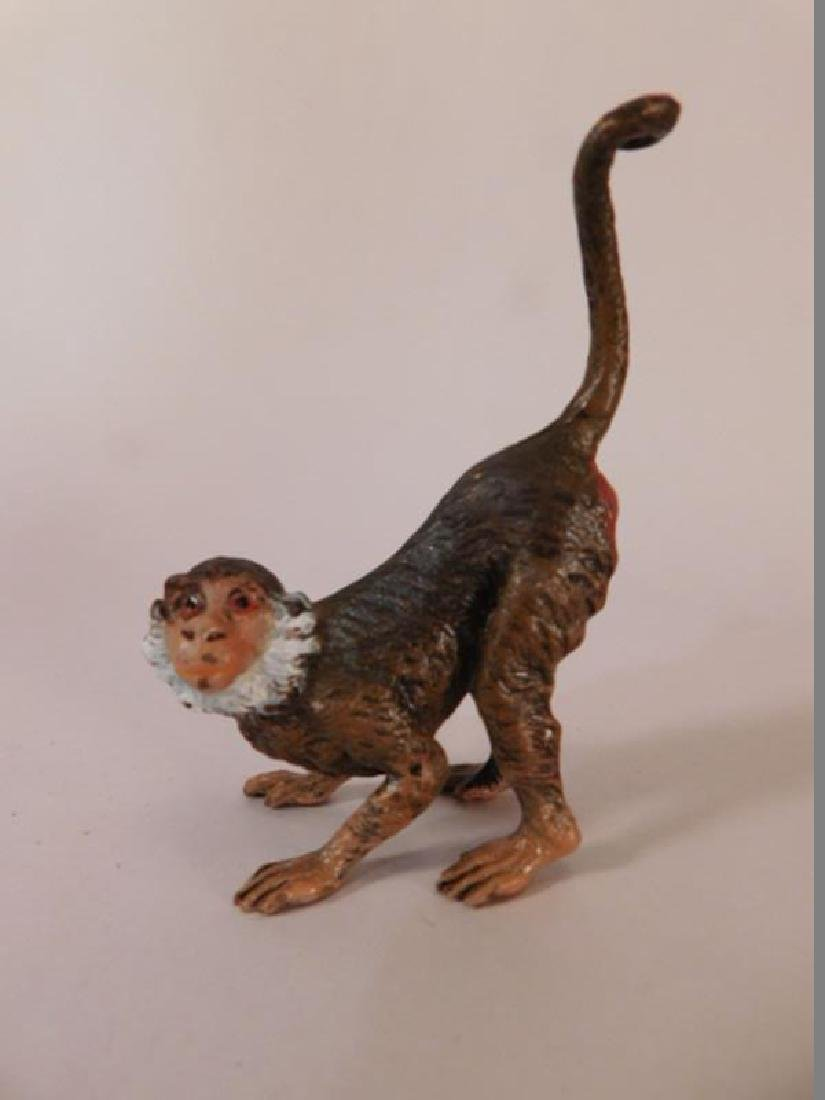 VINTAGE METAL MONKEY MINIATURE HEAVY