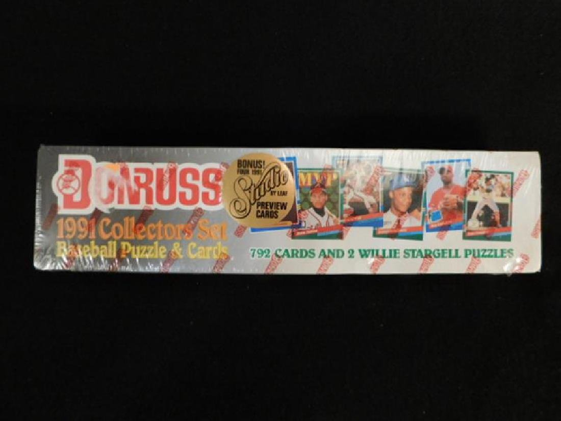 DONRUSS 1991 COLLECTORS SET BASEBALL PUZZLE AND CARDS