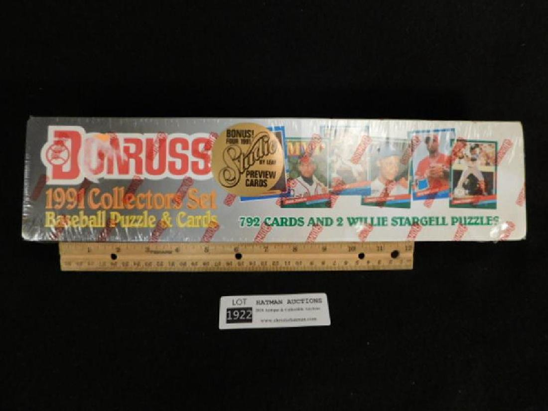 DONRUSS 1991 COLLECTORS SET BASEBALL PUZZLE AND CARDS - 2