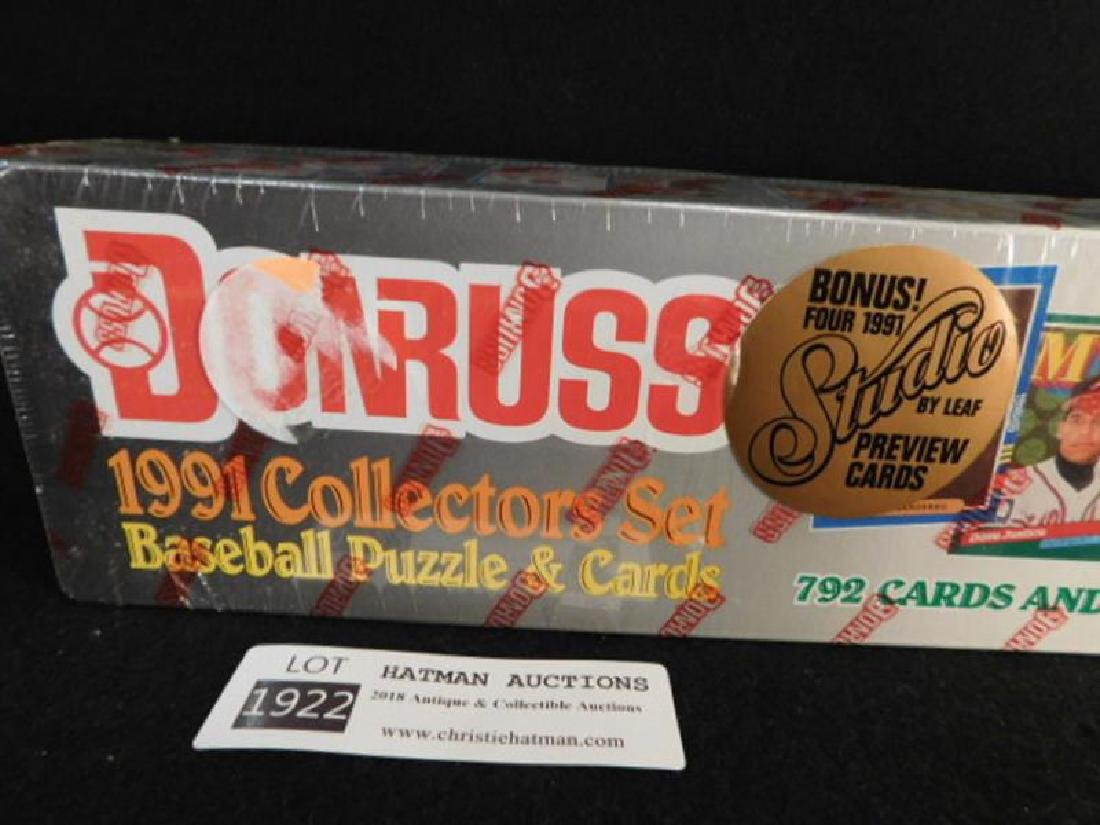 DONRUSS 1991 COLLECTORS SET BASEBALL PUZZLE AND CARDS - 3