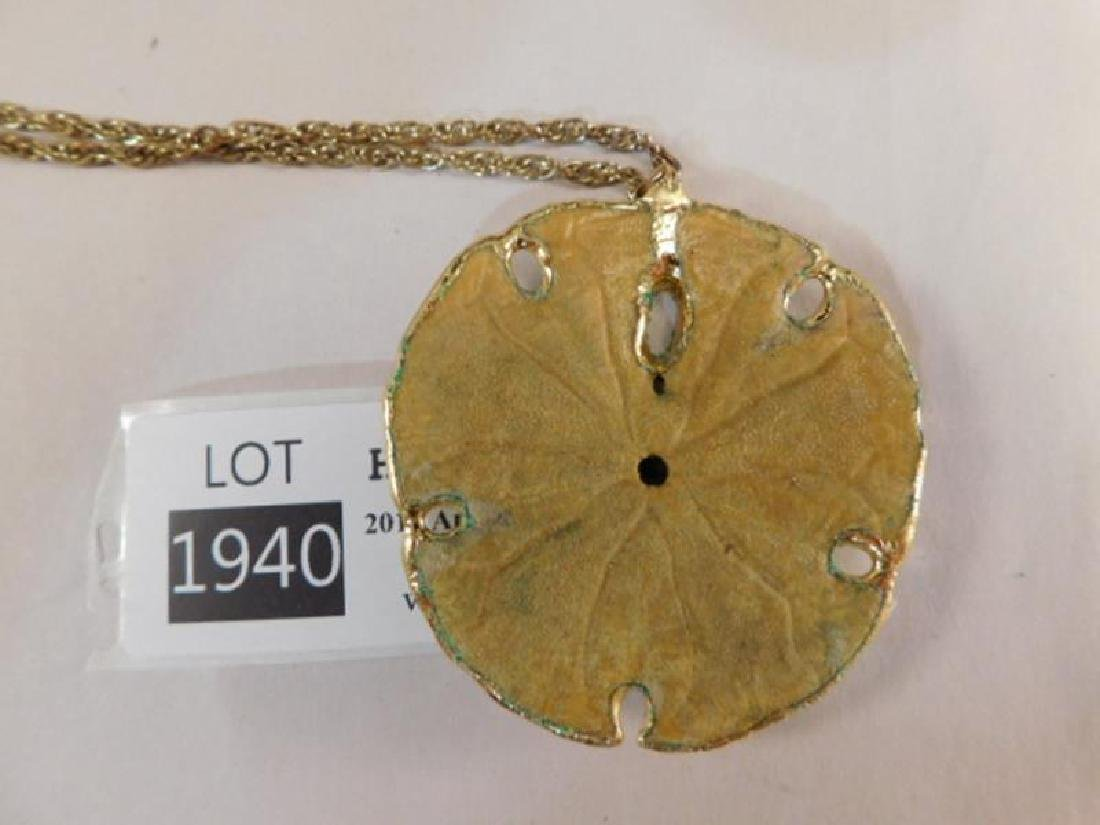 SAND DOLLAR NECKLACE VINTAGE JEWELRY - 3