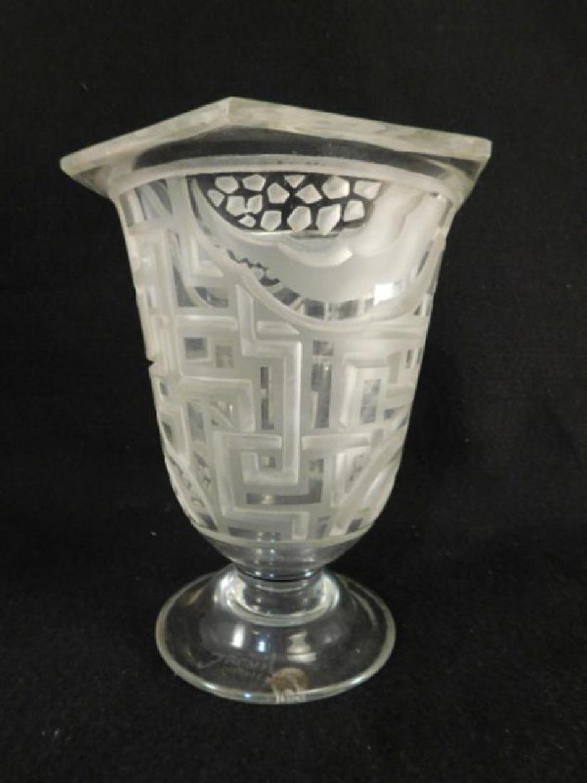 JARVIL NANCY FRENCH FRANCE VASE ETCHED ART DECO NOUVEAU