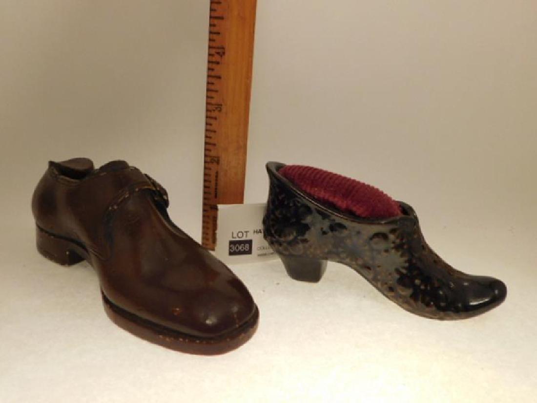 PIN CUSHIONS SHOES SEWING COLLECTIBLE VICTORIAN ERA - 2