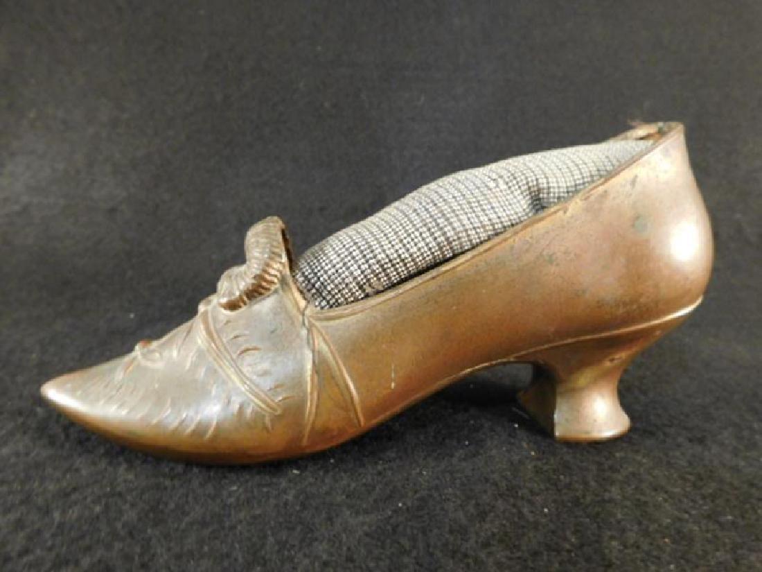 PIN CUSHIONS SHOES SEWING COLLECTIBLE VICTORIAN ERA